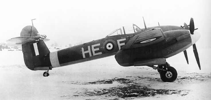 Westland Whirlwind HE-F of 263 Squadron (by 1940 the new Bristol Beaufighter offered greater range & capability, the RAF concentrating on its development as a multi-role aircraft, rather than the Whirlwind)