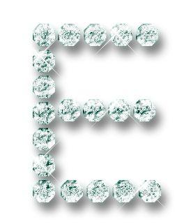 Alfabeto hecho con brillantes. | Oh my Alfabetos!