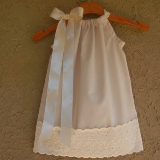 For Ava. My mom are making pillowcase dresses for Ava. I want one like this.