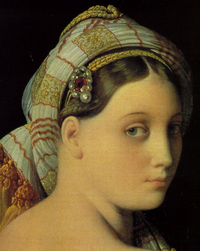 Detail of Ingres's Grande Odalisque (1814)