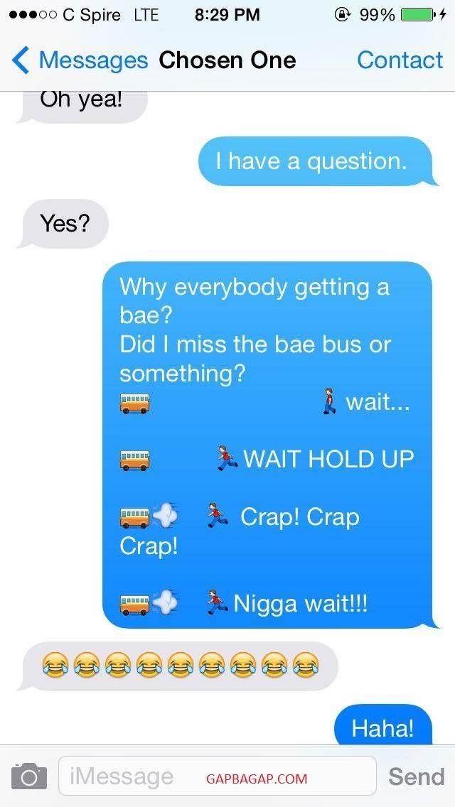 #Hilarious Emoji Text Message