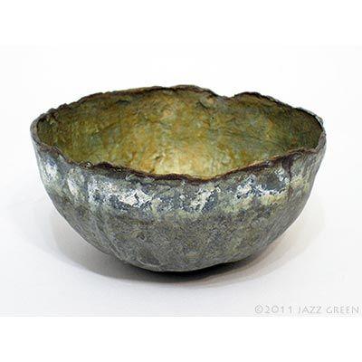 Jazz Green : Works on Paper : papier mache bowls