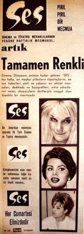 OĞUZ TOPOĞLU : ses mecmuası 1962 nostaljik eski reklamlar