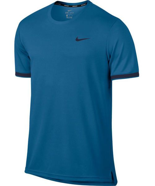 5bbd6b29 Nike Court Dry Team Crew Mens Tennis Shirt L Military Blue 830927 418 #Nike  #ActivewearShortSleeve