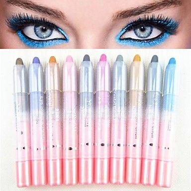 10stk 2in1 fargerik blendende shimmer øyenskygge penn&eyeliner sett – USD $ 6.99