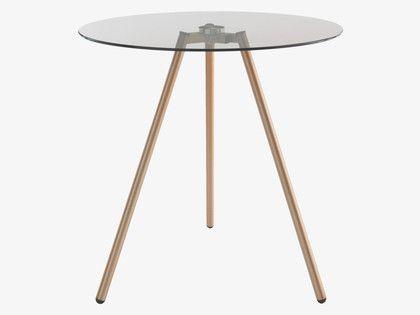 50 x 50 £50 SEPHI Glass and metal side table