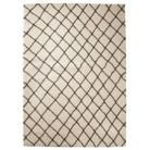 Threshold™ Criss Cross Fleece Rug -   ... so I saw this rug at Target last night and it is the softest, plushest rug I have seen at this price.  But, I think it's  too much white for our living room.  Thoughts?