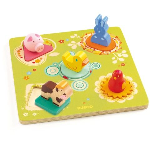 Puzzle encastrement Bildi Djeco pour enfant de 1 an à 3 ans - Oxybul éveil et jeux