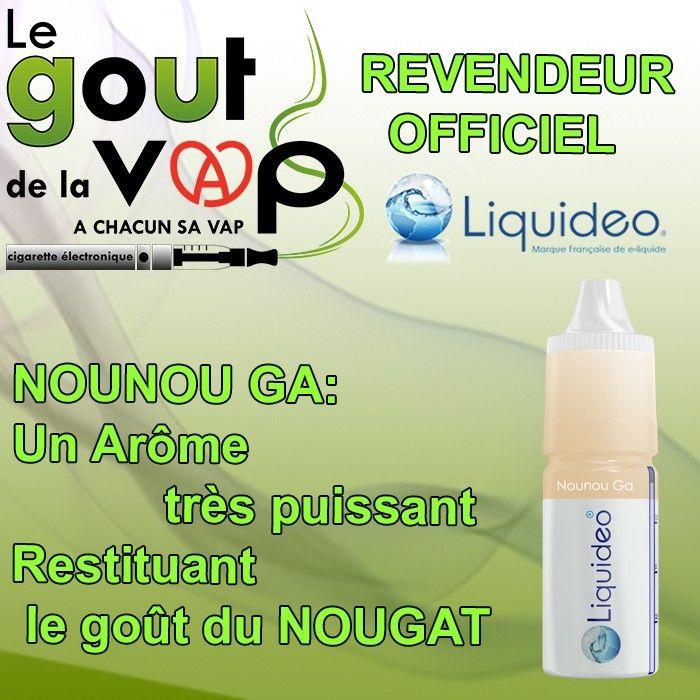 E-Liquide Liquide saveur NOUNOU GA GOÛT Nougat.  Recharge Cigarette, Chicha Électronique.  Disponible chez LE GOUT DE LA VAP