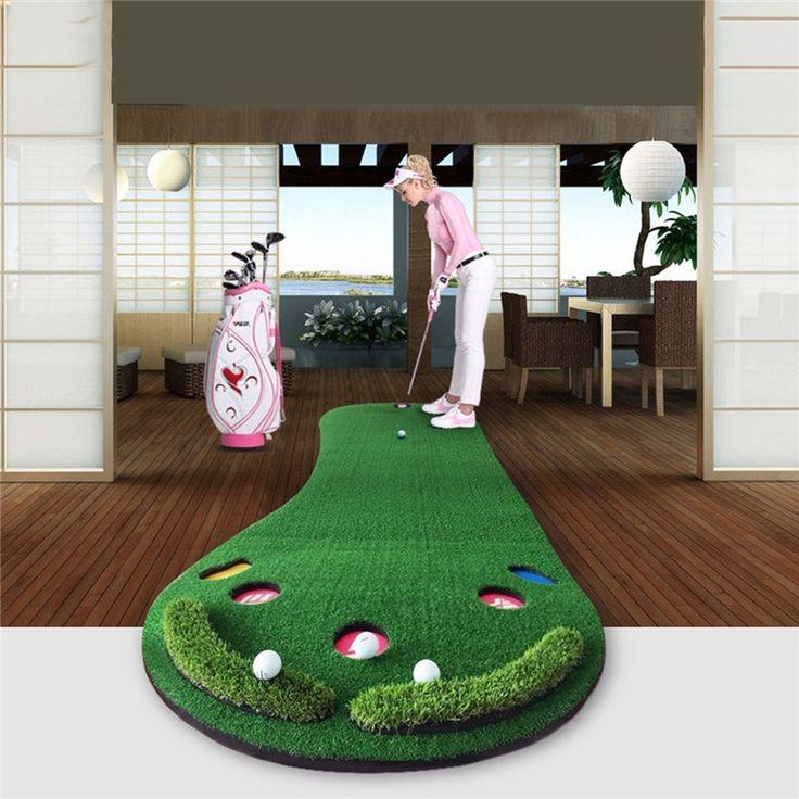 158.00$  Buy here - http://aligkg.worldwells.pw/go.php?t=32764266778 - PGM Golf Putting Mat Golf Putter Trainer Green Putter Carpet Big Feet Golf Trainer Mat Artificial Grass Carpet Profess