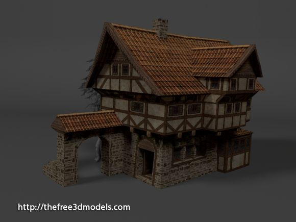 Http Tf3dm Com 3d Model Medieval Hotel Or House 61332 – Fondos de
