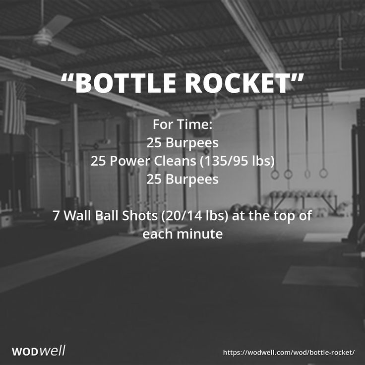 For Time: 25 Burpees; 25 Power Cleans (135/95 lbs); 25 Burpees; 7 Wall Ball Shots (20/14 lbs) at the top of each minute