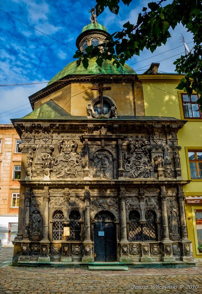 KRESY : Lviv. Boim Family Chapel./ Lwów. Kaplica Boimów.