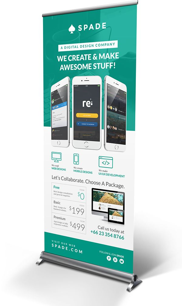 Design Agency/Studio Services Roll-up Banner on Behance