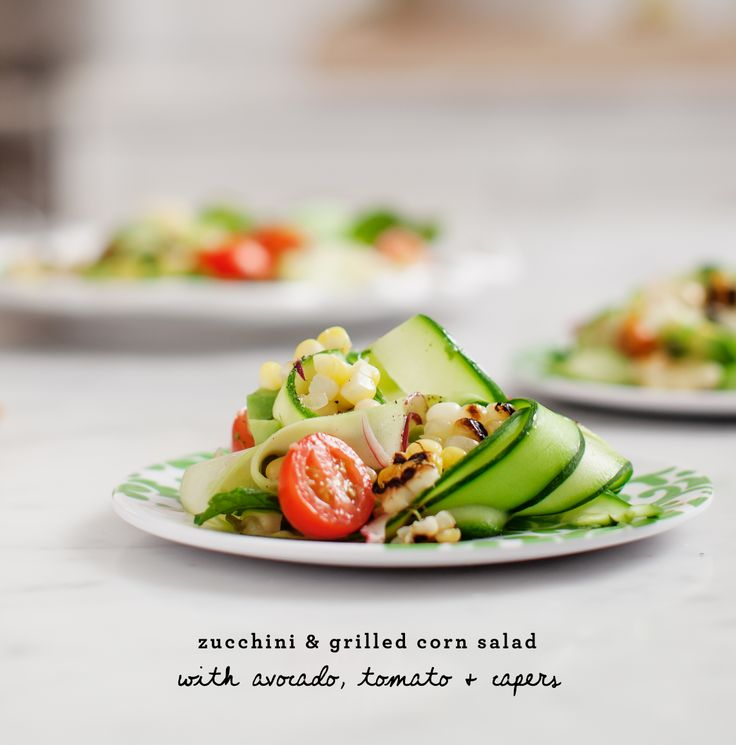 Grilled corn salad, Corn salads and Zucchini on Pinterest
