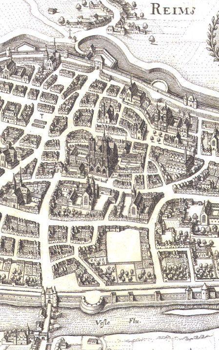17th Century Map of Rheims
