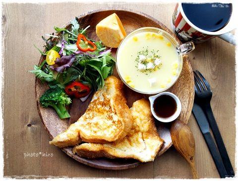 豆乳フレンチトーストで朝ごはん