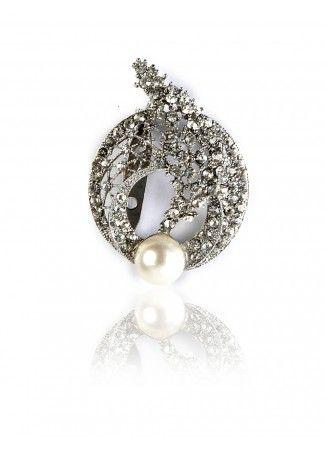 O Broaching - Buy Crystal Encrusted Broach Online in India