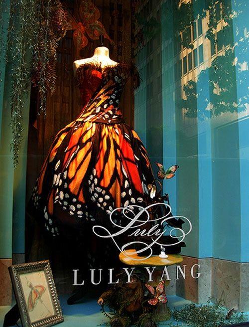 Butterfly dress: Luli The, Shops Window, Milkw Butterflies, Butterflies Wings, Butterflies Dresses, Window Dresses, Monarch Butterflies,  Monarch Butterfly, Fairies Tales