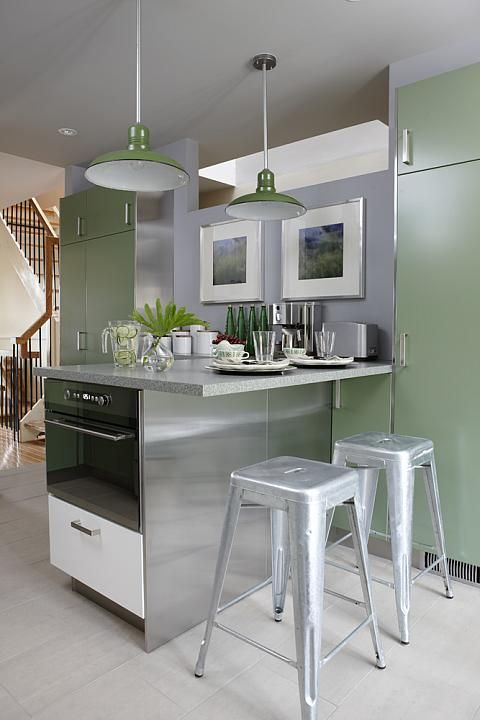 sarah richardson sarah 101 green kitchen stainless steel island