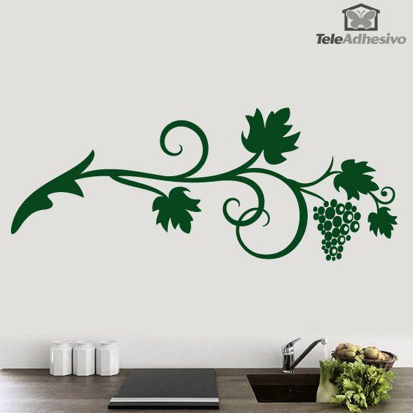 Vinilo floral racimo de uvas decoracion teleadhesivo - Teleadhesivo vinilos decorativos espana ...