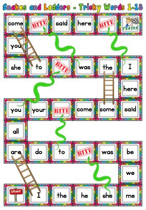 Jolly Phonics Tricky Words Activties and Resources