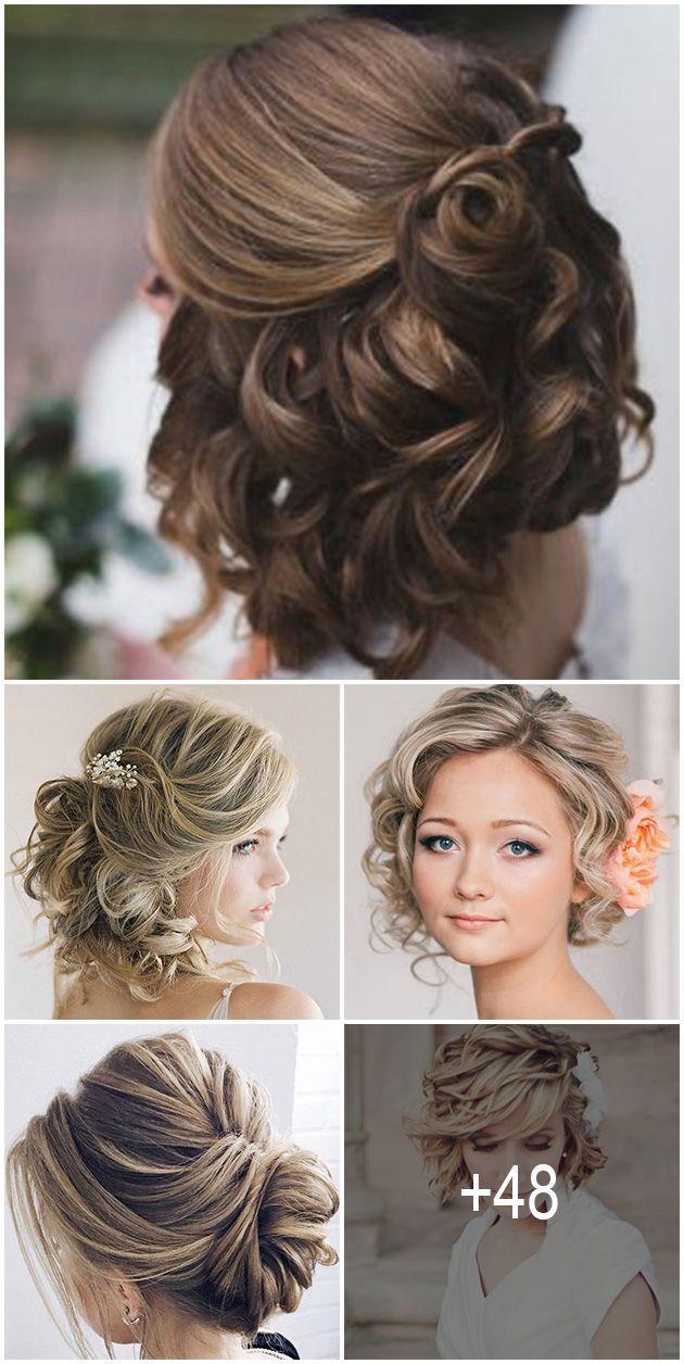 48 Trendiest Short Wedding Hairstyle Ideas Wedding Forward Short Wedding Hair Wedding Hairstyles For Long Hair Short Hair With Bangs
