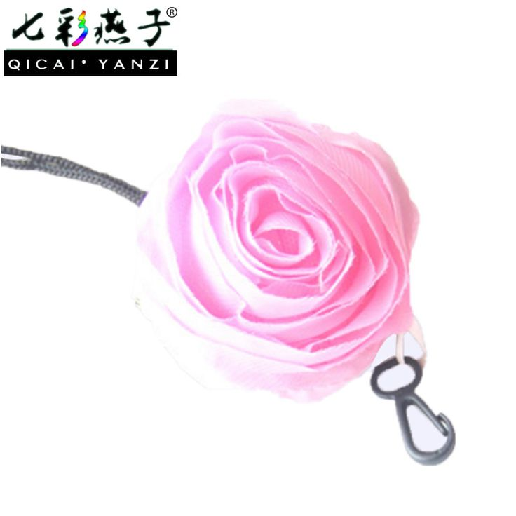 QICAI.YANZI Women Reusable Eco-friendly Roses Hooks Cotton Shopping Bags Mujer Portable Foldable Handbags Eco Bag Totes Z579