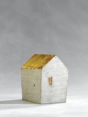 Oh I love the simplicity and the modernity of it. If you could put a little tea light inside that only shone from the window it would be a very beautiful piece to have in the house. Imagine a whole city of them scattered through a living room.   Udo Mathee - Haus (2003)