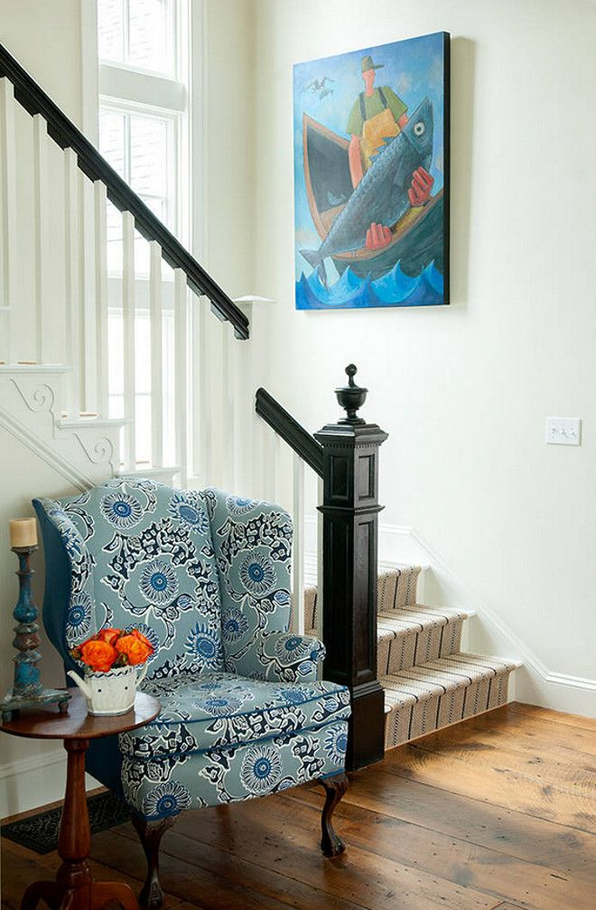 Striped stair runner adds a nautical element. l Coastal Staircases and Doors l . & 54 best Coastal Staircases \u0026 Doors images on Pinterest ... Pezcame.Com