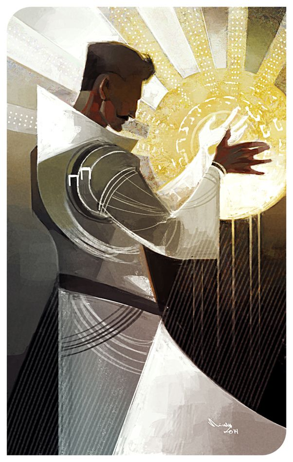 The Dragon Age character of Dorian Pavus as The Sun