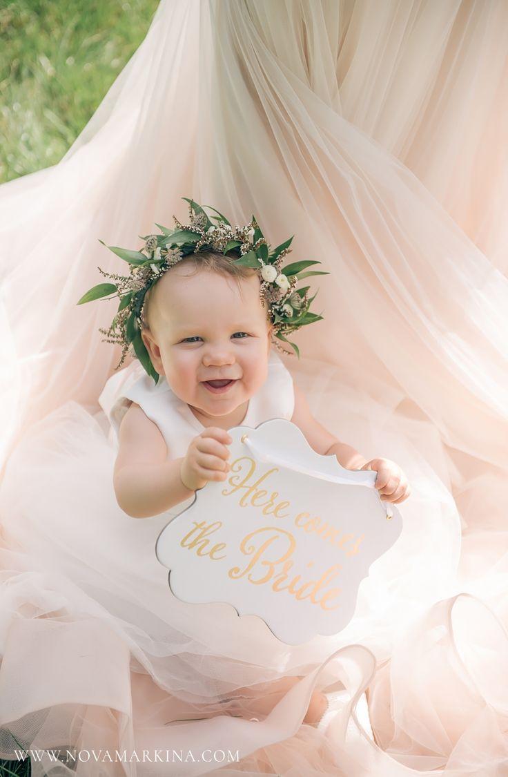 Adorable Happy Baby Flower Girl || Garden Themed Wedding Ceremony Ideas || NovaMarkina Photography || See more of this Langdon Hall Wedding here: http://www.novamarkina.com/blog/langdon-hall-wedding-photography-sara-chris