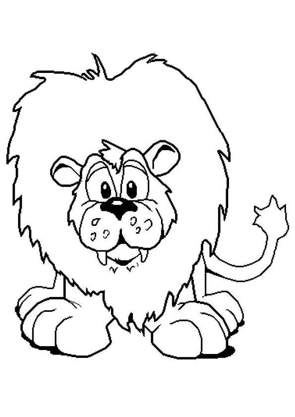 Un enfant lion avec ses petites dents, dessin à colorier