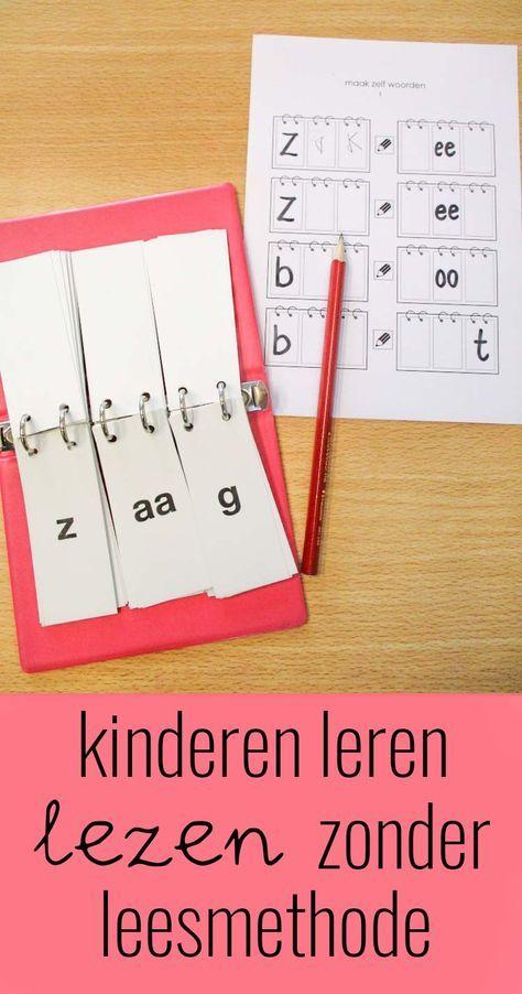 Kinderen leren lezen zonder leesmethode
