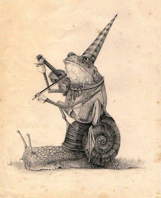 by Mark Porter... There's just something adorable about critters riding snails.