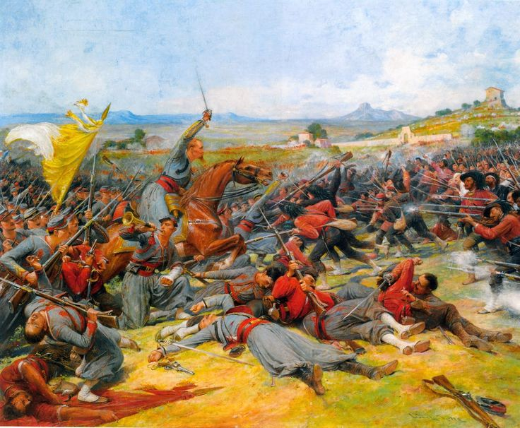 Battle of Mantena- Papal Zouaves in combat