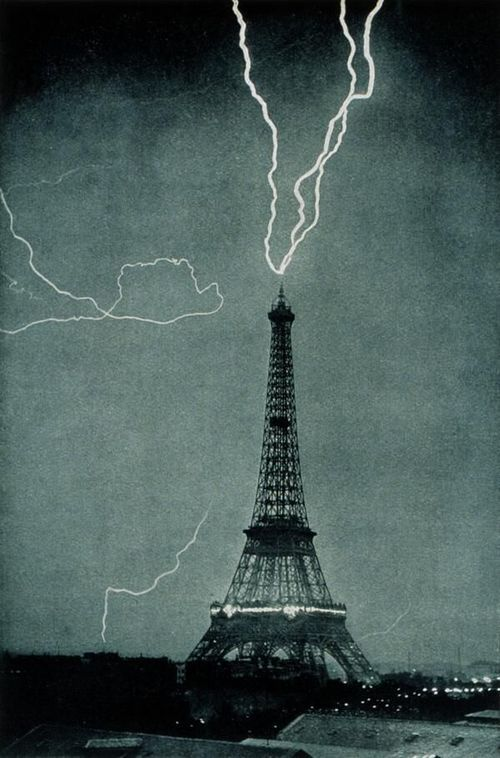 REFLECTIONS — Lightning striking the Eiffel Tower, 1902