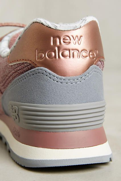 9f827e3793d5 New Balance 574 Rose Gold Sneakers