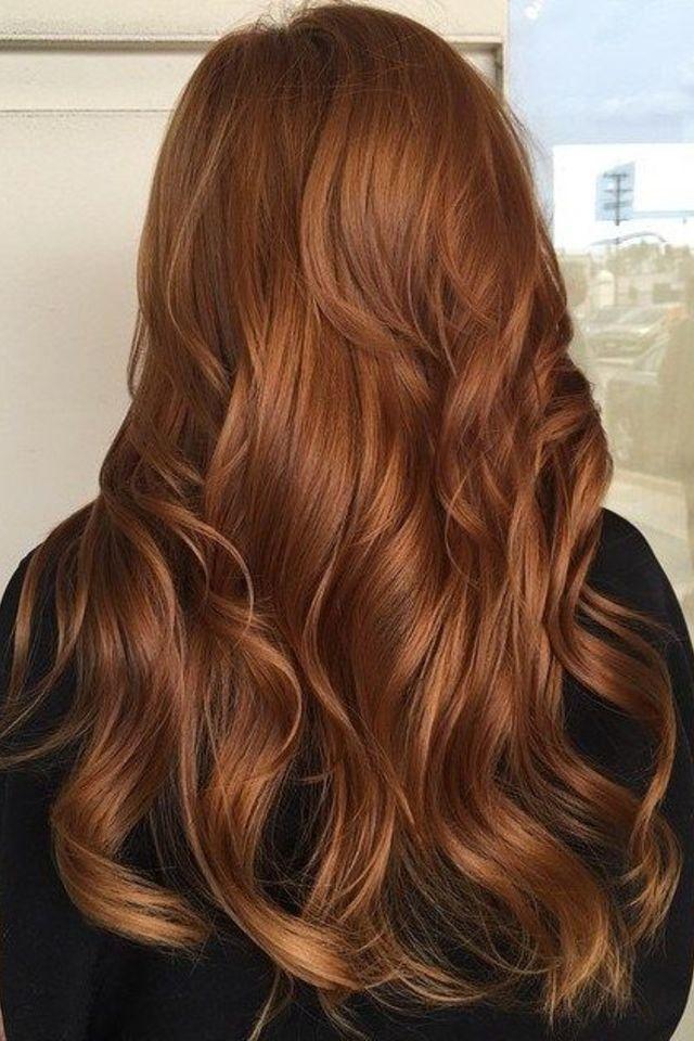 ما هي موضة ألوان صبغات شعر 2019 Copper Hair Color Hair Styles Brunette Hair Color
