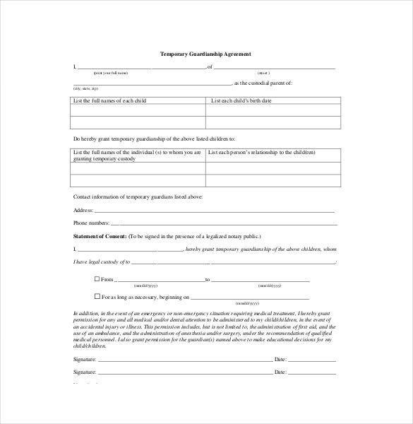 Temporary Guardianship Agreement Form 2 Mind Numbing Facts About Temporary Guardianship Agre Custody Agreement Custody Agreement Template Agreement Letter