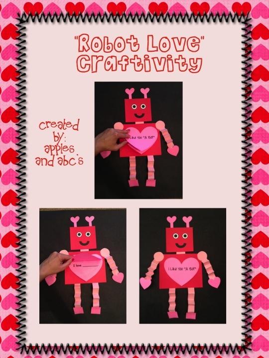 Valentine's Day Robot Craft