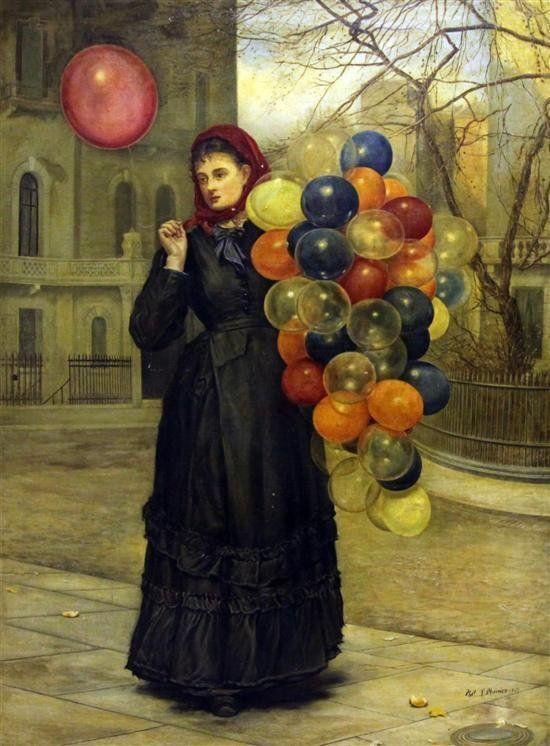 Philip Richard Morris (British, 1833-1902) The Balloon Seller. 1867