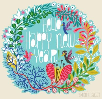 Happy New Year - Illustration Helen Dardik - Orange you Lucky