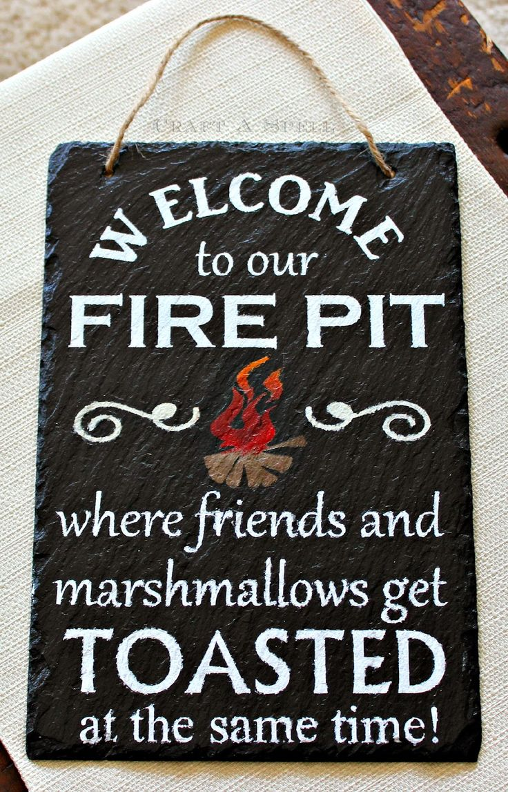 Welcome To Our Fire Pit Sign and Tray