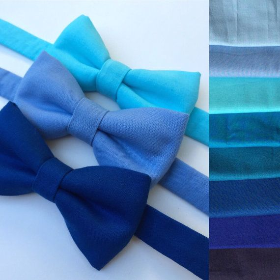 Blue bow tie. Blue baby bow tie. Blue adult bow tie. by 2JShop