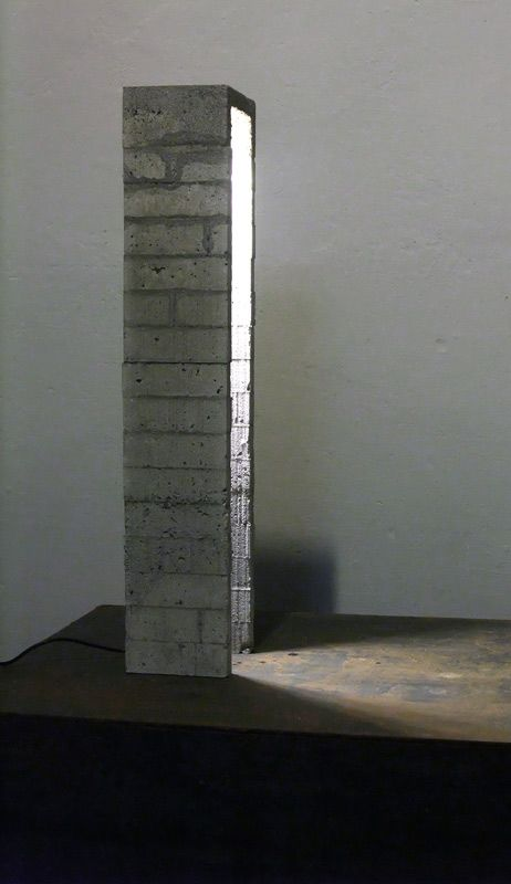 Concrete LED lamp