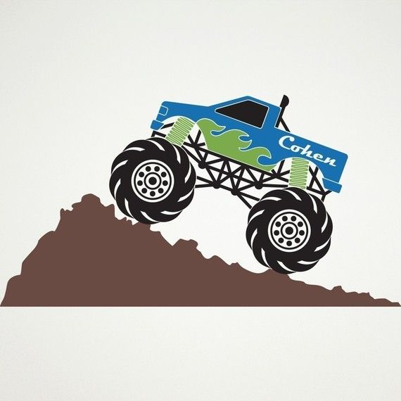 Kids Custom Monster Truck Decal Personalized by graphicspaces, $65.00