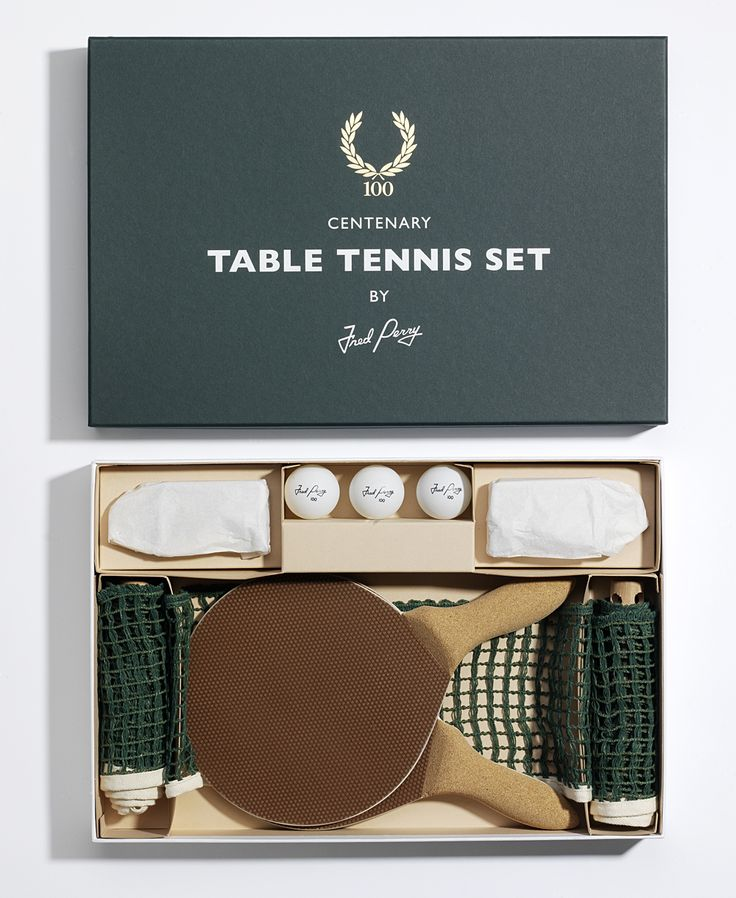 Fred Perry celebrates its centenary with a fantasctic table tennis set