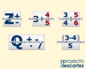PROYECTO MISCELÁNEA. Operaciones con Números Racionales. Practicar las operaciones con números racionales, ya sean números enteros o fraccionarios. Dominar la simplificación de los resultados obtenidos en las operaciones. Evaluarse en estas prácticas.
