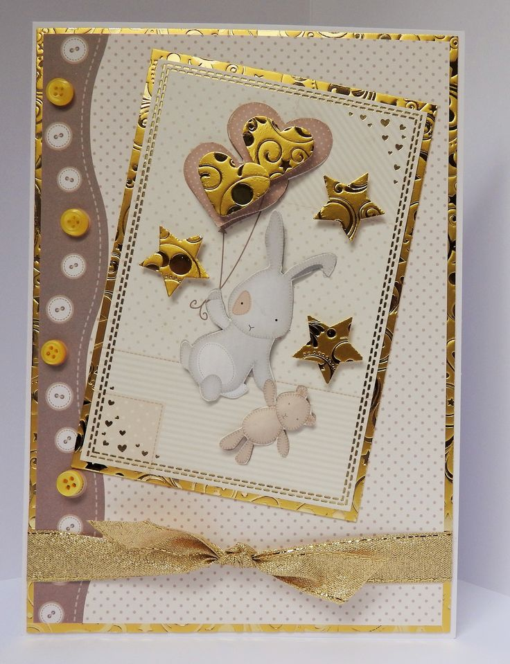 """A5 card made by Sue Dinsdale using Kanban """"All Occasions"""" papercraft Collection"""